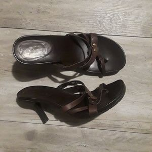 Kennith Cole Reaction Brown Leather Sandals